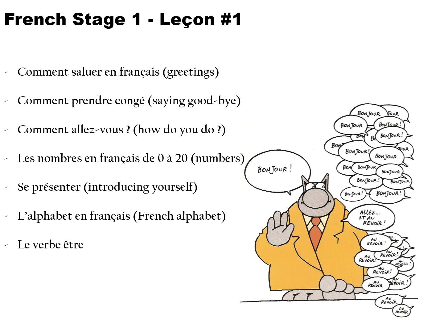 French As A Foreign Language 01 Beginnerselementary Greetings