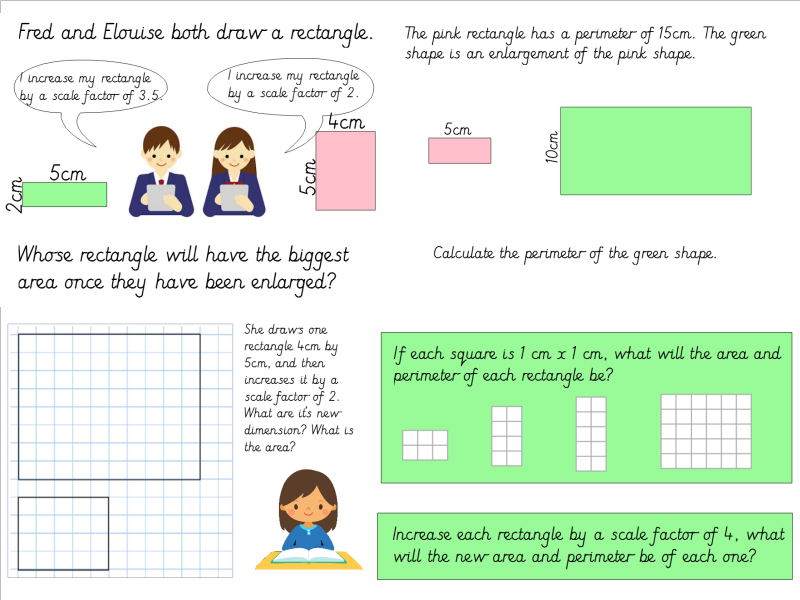 Year 6 Scale Factors Lesson Pack  (Linked to White Rose Small Steps)