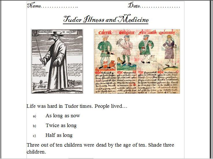 Tudor and Stuarts lessons (Powerpoints and worksheets).