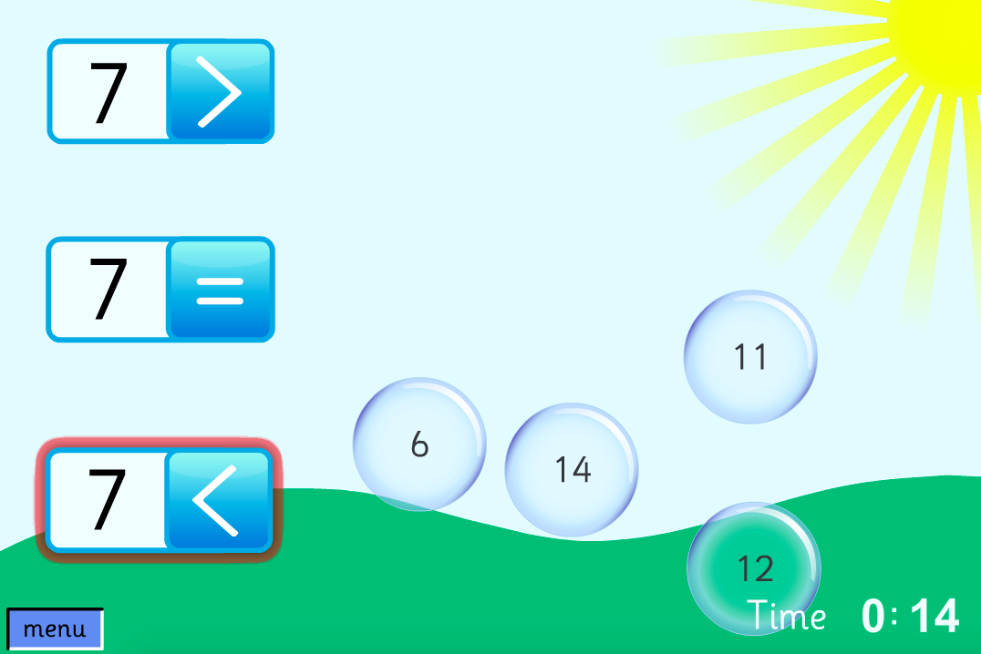 Comparing Numbers - Number Pop Interactive Game