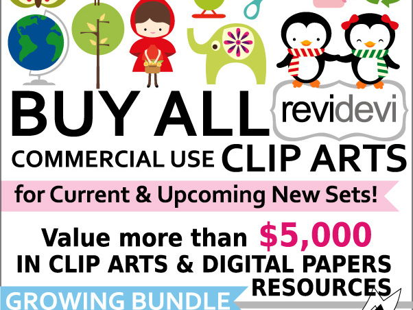 Lifetime Access to Commercial Use Clip Art - Buy All Clipart - Growing Bundle