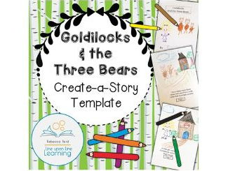 Goldilocks and the Three Bears Create-a-Story Template