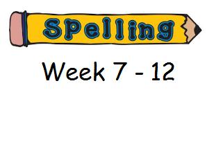 Year 3 Spelling Planning and Homework Resources - Week 7 - 12