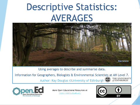 Descriptive Statistics: AVERAGES
