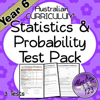 Year 6 Statistics & Probability Maths Test Pack- Australian Curriculum