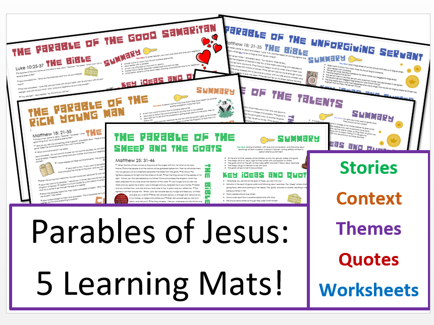 Parables of Jesus Bundle: 5 Parables, Stories, Context, Themes and Importance