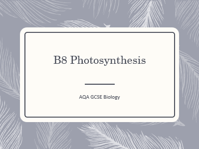 AQA GCSE Biology (9-1) B8 Photosynthesis - ALL LESSONS