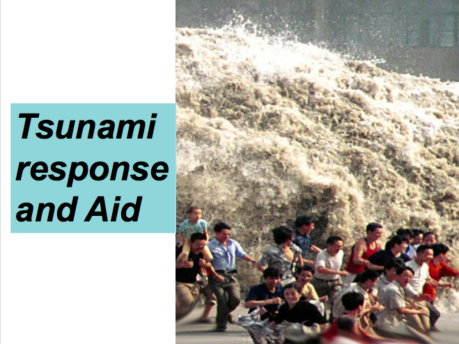 Tsunami Responses and Aid! Development