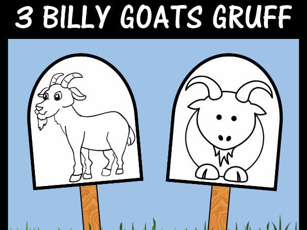 The 3 Billy Goats Gruff - Stick Puppet Templates