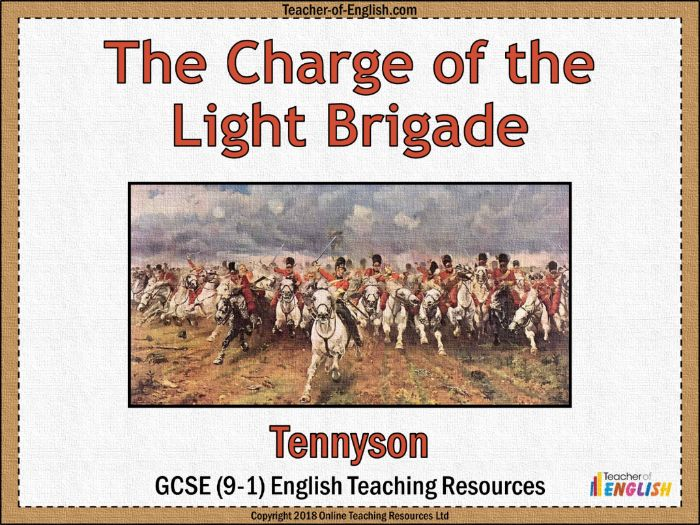 The Charge of the Light Brigade (PowerPoint and Worksheets)