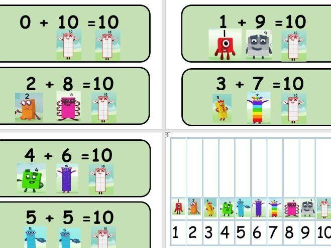 Numberblocks to 10