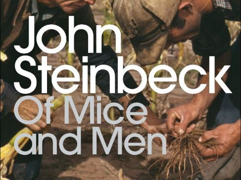 Of Mice and Men word cloud (USA shaped)