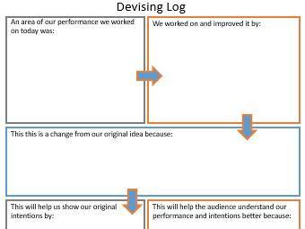 Devising Log Planning Sheet