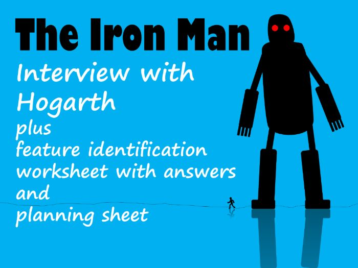 The Iron Man Hogarth Interview Example Text, Feature Identification & Answers