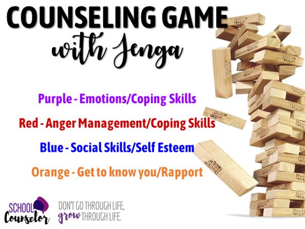 Counseling Jenga Game