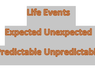 Life events - expected and unexpected  (Template)
