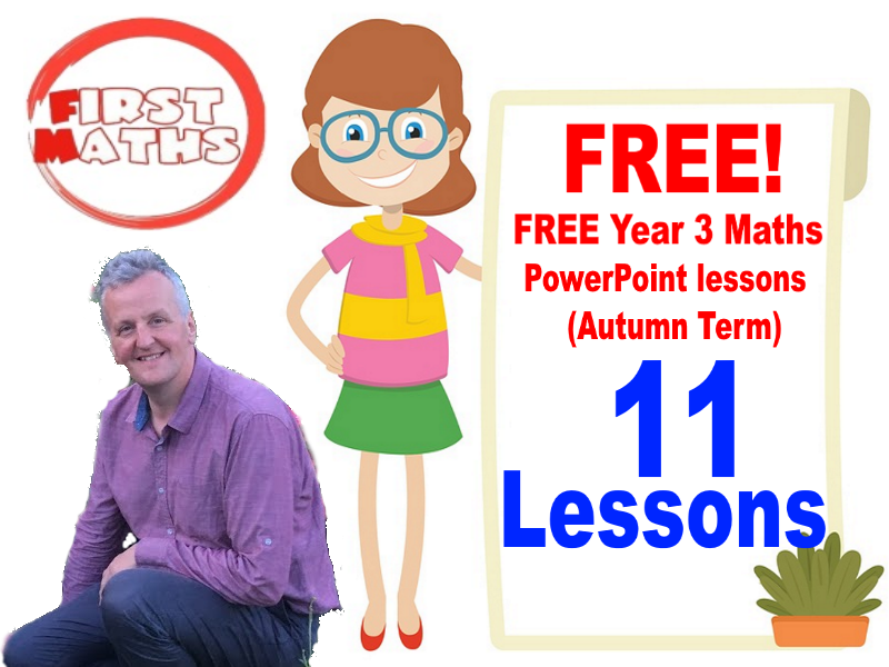 FREE Year 3 Maths YouTube PowerPoint lessons (Autumn Term)