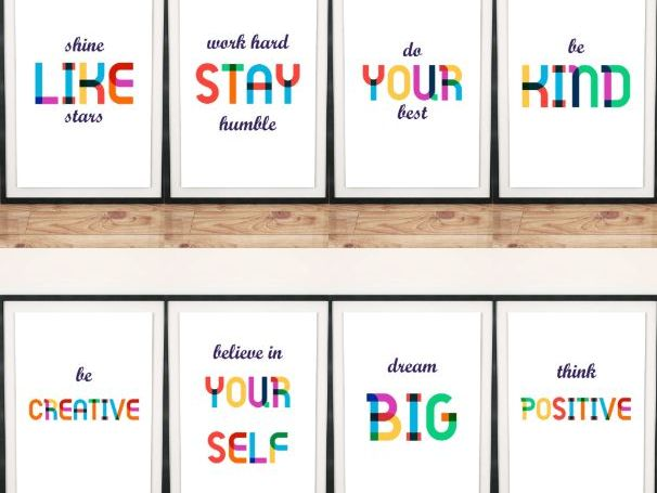 Positive Motivational Wall Display Board