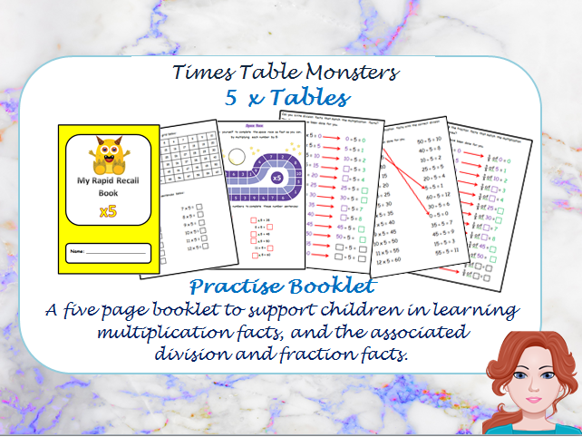 5 x Tables Practise Booklet