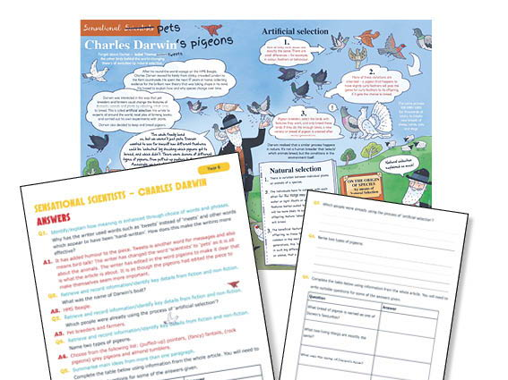 Year 6 Guided reading Charles Darwin