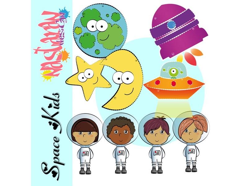Space Kids Clip art