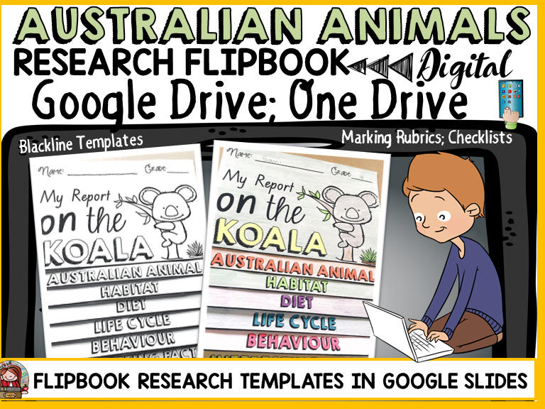 DIGITAL RESEARCH: AUSTRALIAN ANIMALS: GOOGLE DRIVE: GOOGLE SLIDES
