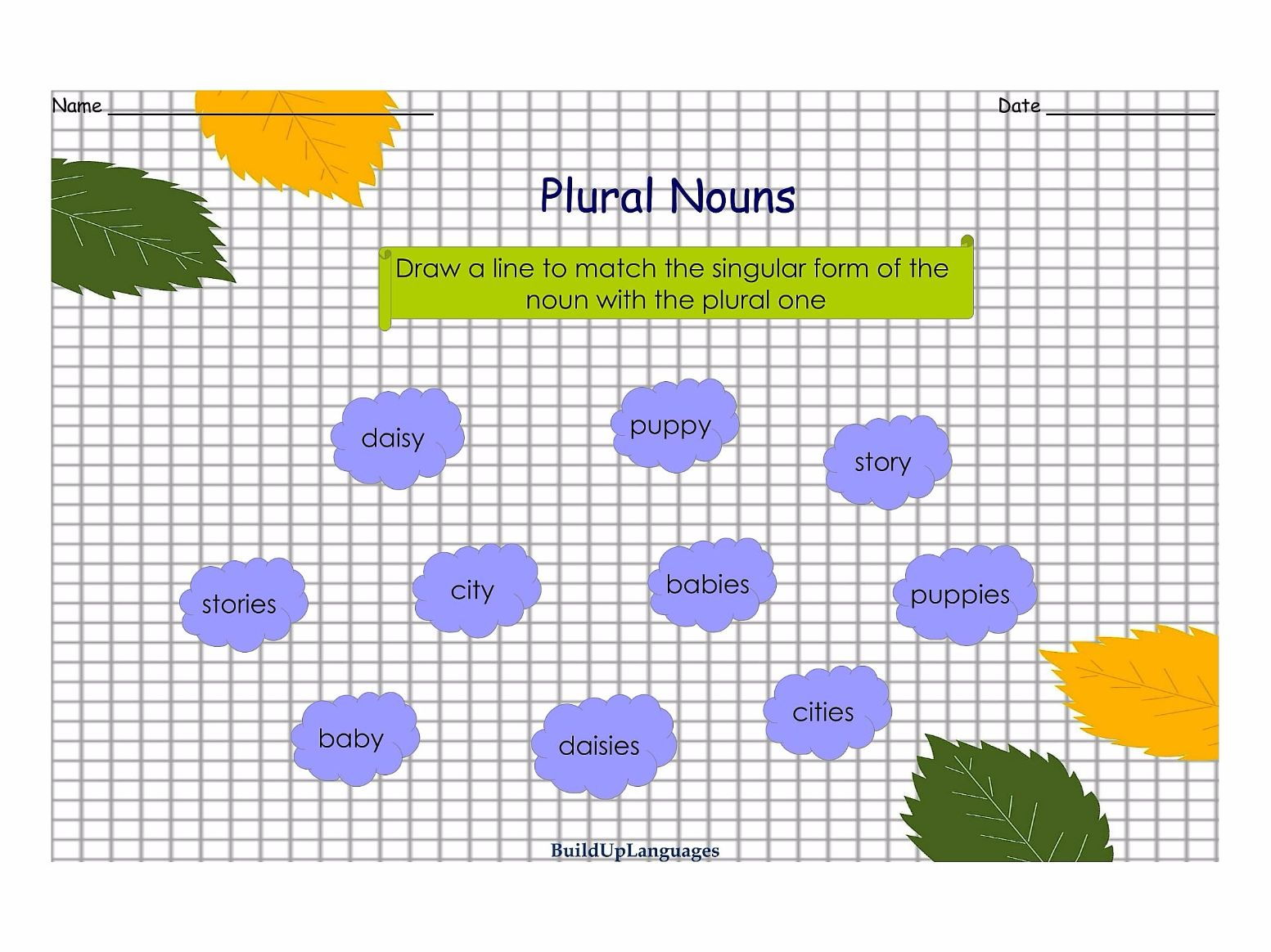 Plural Nouns Practice 1 and 2, worksheets and games