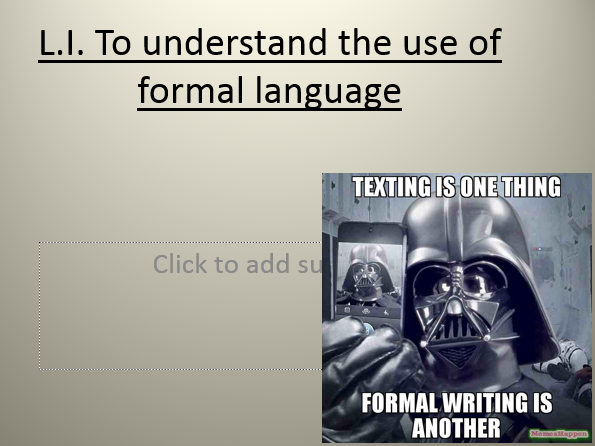 Report Writing year 5/6 - Use of formal language and report text