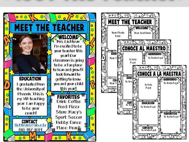 MEET THE TEACHER ★ EDITABLE NEWSLETTER ★ FREE PRINTABLE
