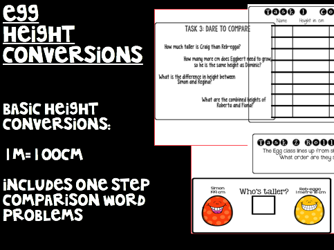 Basic Height Conversion Activity