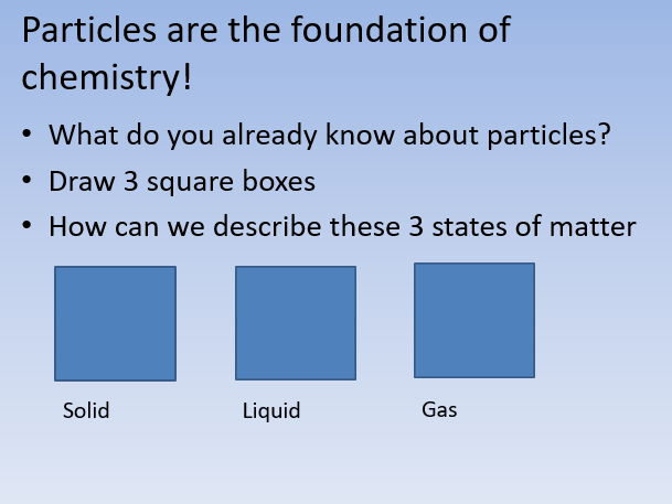 iGCSE Chemistry - Particulate Nature of matter