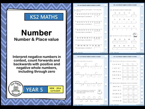 Year 5  - Interpret negative numbers in context - Number & Place Value (inc. mastery)
