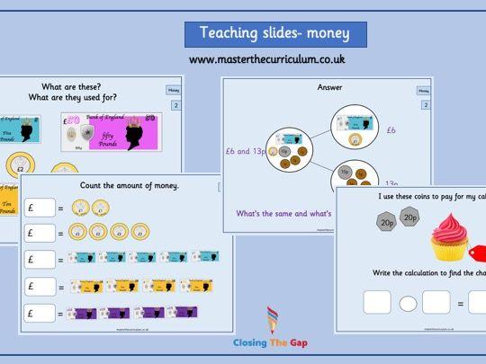 Year 2 Money Fluency Teaching Slides- White Rose Style