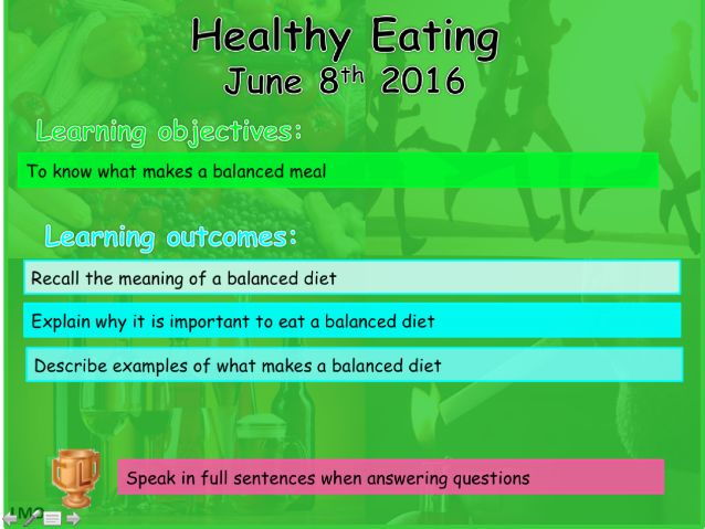 Healthy Lifestyles: Healthy Eating