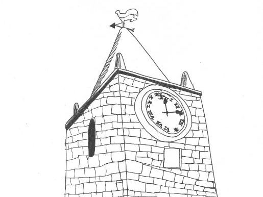 Settlements: Clock Tower on a Village Church