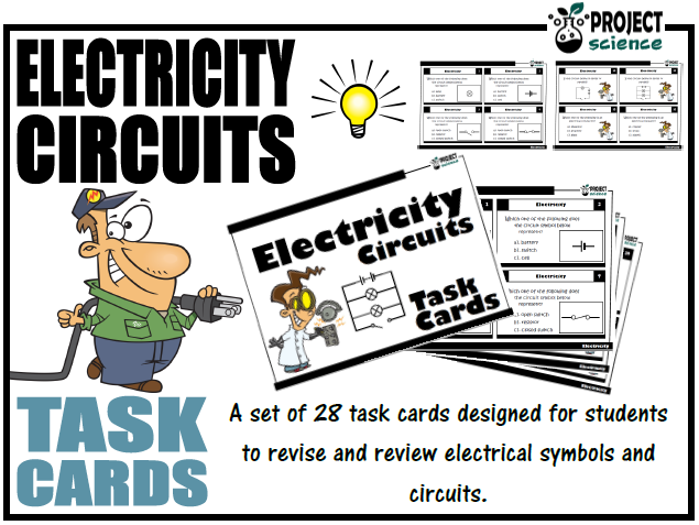 Electricity  Circuits and Symbols Task Cards
