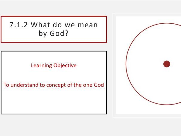 7.1.2 What do we mean by God?