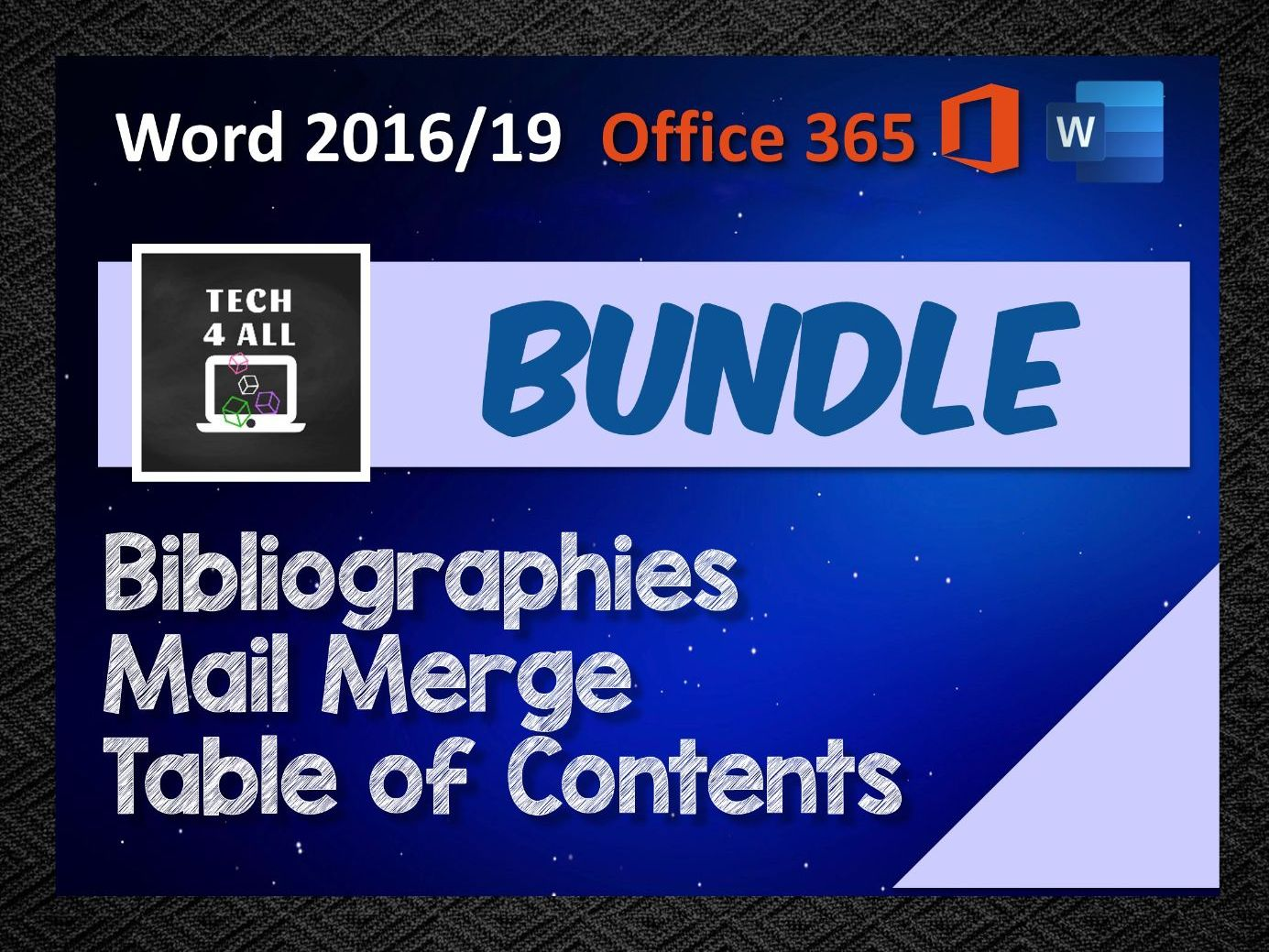 MS Word Bundle: Table of Contents - Bibliographies - Mail Merge