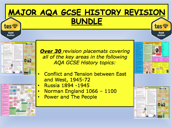 MAJOR AQA GCSE HISTORY REVISION BUNDLE