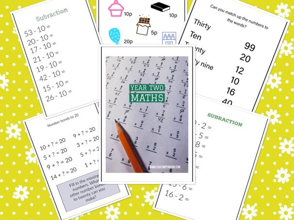 Year Two Maths Activity Pack