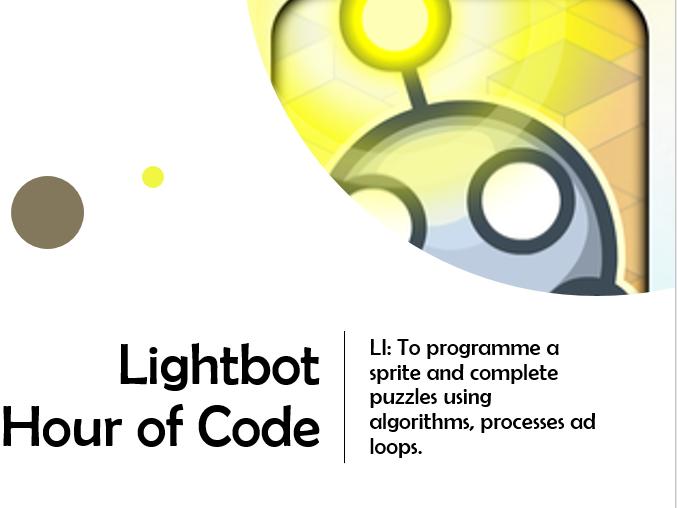 Lightbot - Hour Of Code - Algorithm - 3 week unit and worksheets.