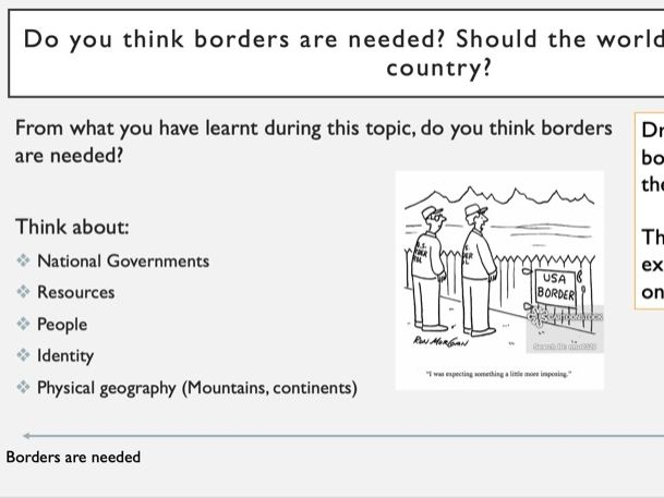 Geography KS3 Borders Lesson 7