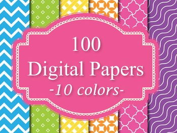 100 Basic Digital Papers Background Papers Set 2