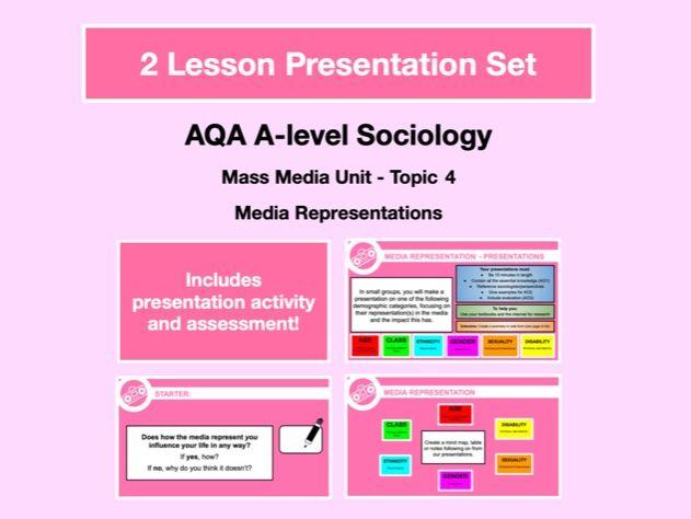 Media Representations - AQA A-level Sociology - Mass Media Unit - Topic 4