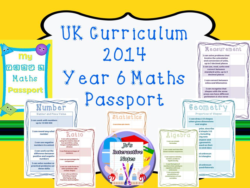 Key Stage 3 National Curriculum Maths Passport