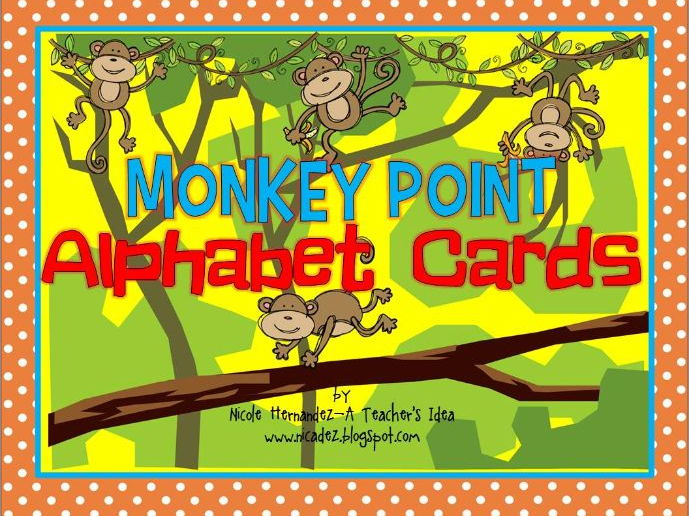 Alphabet Cards - {Monkey Themed} Posters, Picture Cards and Modeling Clay Cards