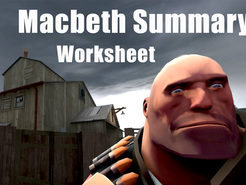 Macbeth Worksheet - Make Your Own Graphic Novel - Teaching Macbeth