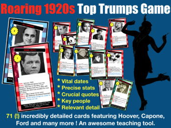 Fun 1920s USA Card Game - 71 Cards