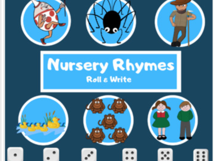 Nursery Rhymes Roll & Write