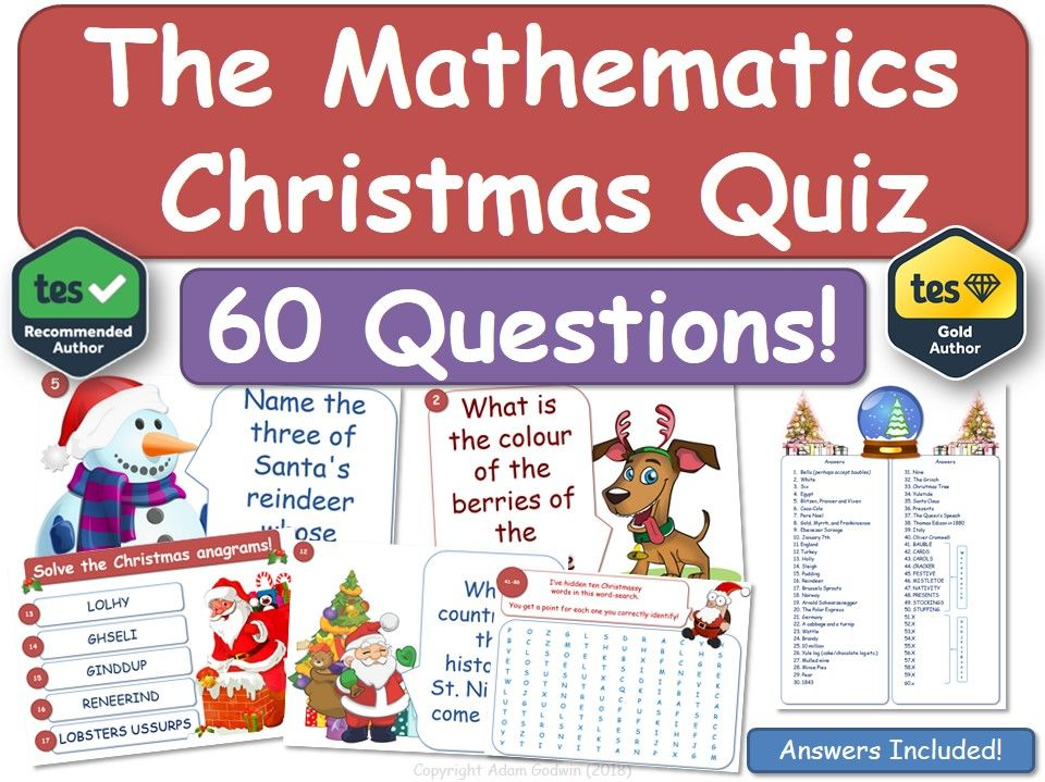 Maths Christmas Quiz! (Mathematics)